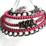 Leather Wrap Hot Pink Gunm..