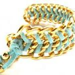 Chunky Gold Chain Mint Che..